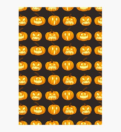 Spooky Jack 'o Lanterns Photographic Print