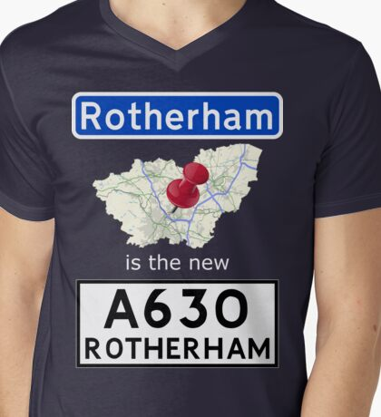 Rotherham is the new Rotherham Mens V-Neck T-Shirt