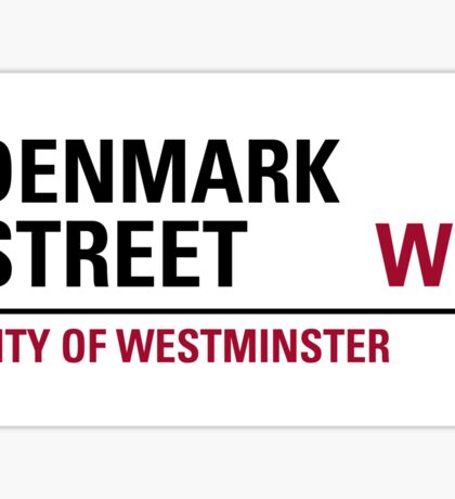Denmark Street London Road Sign	 Sticker