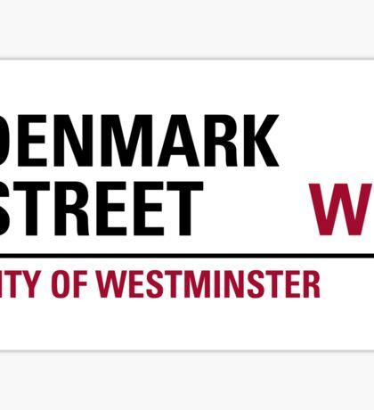 Denmark Street London Road Sign Sticker
