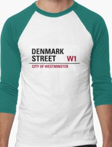 Denmark Street London Road Sign	 Men's Baseball ¾ T-Shirt