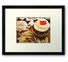 The Cupcake in Sepia Framed Print