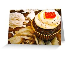The Cupcake in Sepia Greeting Card