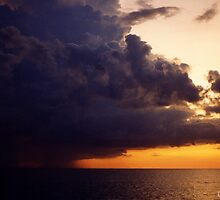 Storm clouds over the Gulf of Mexico..... by DaveHrusecky