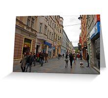 City life in Sarajevo Greeting Card