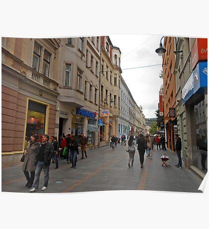 City life in Sarajevo Poster