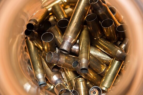 Brass Bullet Casings by Orla Cahill Photography