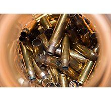 Brass Bullet Casings Photographic Print