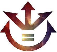 Galaxy Saiyan Crest by ZipZapAttack