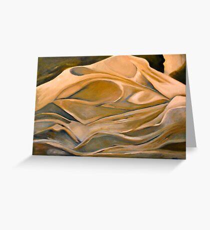 Sheets - Original Oil Painting Greeting Card