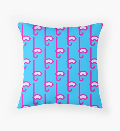 Pink Snorkel - Diver Pattern Throw Pillow