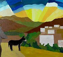 Pueblo Burros #2 by Lowell Smith