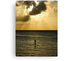 Paddle Boarding - Waimea Bay Canvas Print