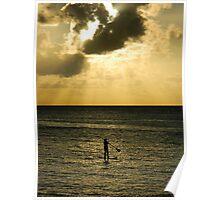 Paddle Boarding - Waimea Bay Poster