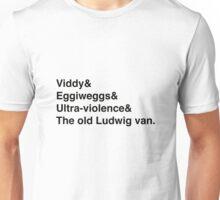 A Clockwork Orange Language Ampersand Helvetica List t-shirt etc. Unisex T-Shirt