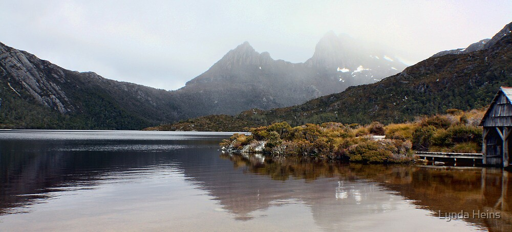 Snow on Cradle Mountain by Lynda Heins