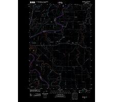 USGS Topo Map Oregon Riverside 20110831 TM Inverted Photographic Print