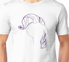 Rarity: Not amused Outline Unisex T-Shirt