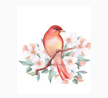 Bird on branch Womens Fitted T-Shirt