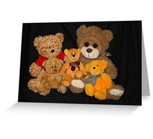 Teddy's Family Portrait Greeting Card