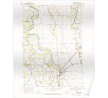 USGS Topo Map Oregon Harrisburg 280152 1969 24000 Poster