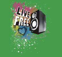 Live Free (Raw Black) Kids Tee