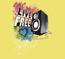Live Free (Raw Black) One Piece - Short Sleeve