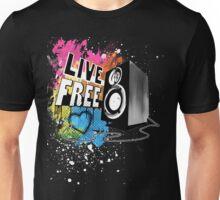 Live Free (Raw Black) Unisex T-Shirt