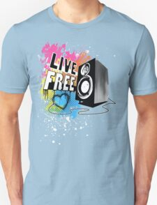 Live Free (Raw Black) T-Shirt