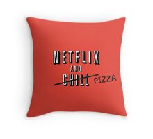 Netflix and Pizza Throw Pillow