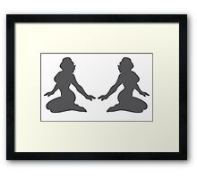 Two sexy ladies posing shape Framed Print