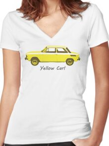 Yellow Car! Women's Fitted V-Neck T-Shirt