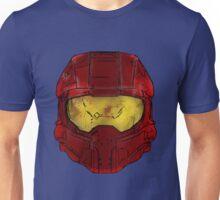 Red Spartan Helmet Unisex T-Shirt