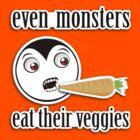 Monsters Eat Their Veggies (Little Drack) by rtofirefly