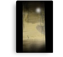 Willow and Moon Canvas Print