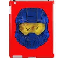 Blue Spartan Helmet iPad Case/Skin