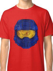 Blue Spartan Helmet Classic T-Shirt