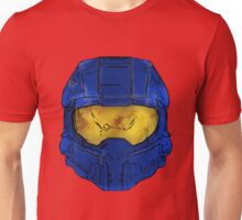 Blue Spartan Helmet Unisex T-Shirt