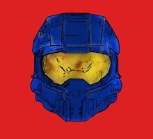 Blue Spartan Helmet T-Shirt