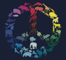 Animals of Peace One Piece - Short Sleeve