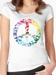 Animals of Peace Women's Fitted Scoop T-Shirt