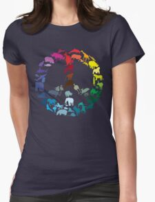 Animals of Peace Womens Fitted T-Shirt