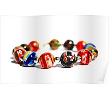 colourful beads Poster