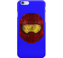 Red Spartan Helmet iPhone Case/Skin