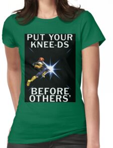 Captain Falcon - Your Knee-ds Womens Fitted T-Shirt