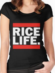 RICE LIFE Women's Fitted Scoop T-Shirt