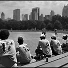 Baseball in Central Park. by HaiiJeuss