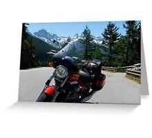 Moto Guzzi in the Pass - Cascades, WA Greeting Card