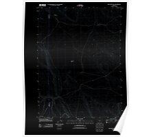 USGS Topo Map Oregon Sage Hen Flats 20110816 TM Inverted Poster