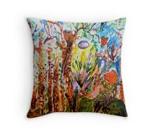 Mystery in the Forest Throw Pillow